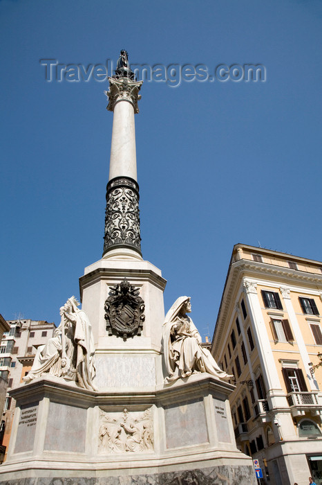 italy435: Rome, Italy: monument at Piazza Mignanelli - photo by I.Middleton - (c) Travel-Images.com - Stock Photography agency - Image Bank