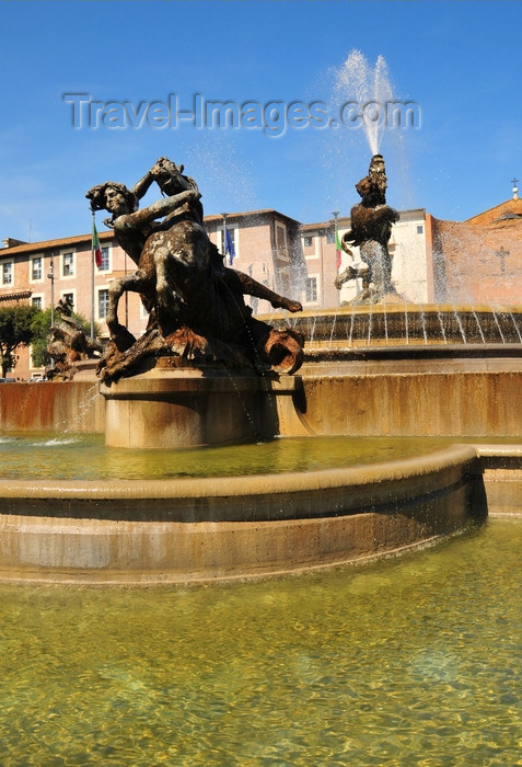 italy441: Rome, Italy: fountain at Piazza della Repubblica - Fontana delle Naiadi, by Mario Rutelli - photo by M.Torres - (c) Travel-Images.com - Stock Photography agency - Image Bank