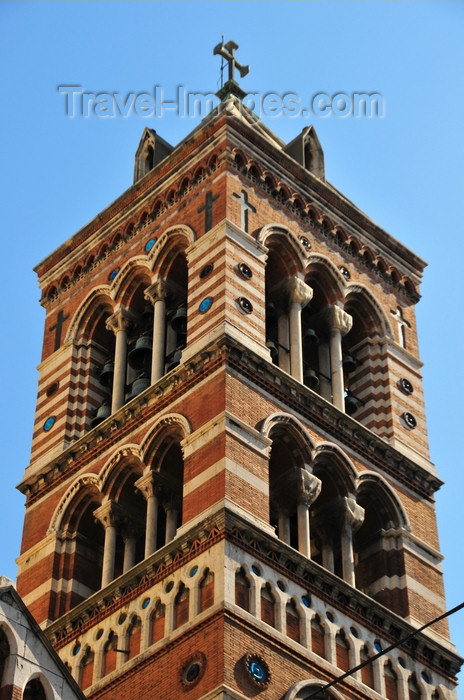 italy445: Rome, Italy: bell tower of St. Paul Within the Walls Episcopal Church - architect George Edmund Street - Via Nazionale  - photo by M.Torres - (c) Travel-Images.com - Stock Photography agency - Image Bank