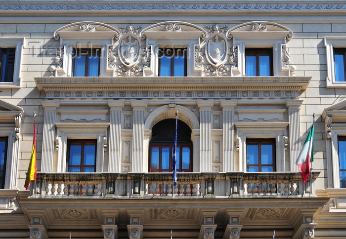italy447: Rome, Italy: balcony of Via Nazionale 46 - Eurostars International Palace - luxury hotel - photo by M.Torres - (c) Travel-Images.com - Stock Photography agency - Image Bank