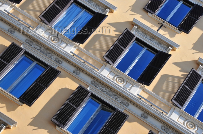 italy448: Rome, Italy: windows over Via Nazionale - photo by M.Torres - (c) Travel-Images.com - Stock Photography agency - Image Bank
