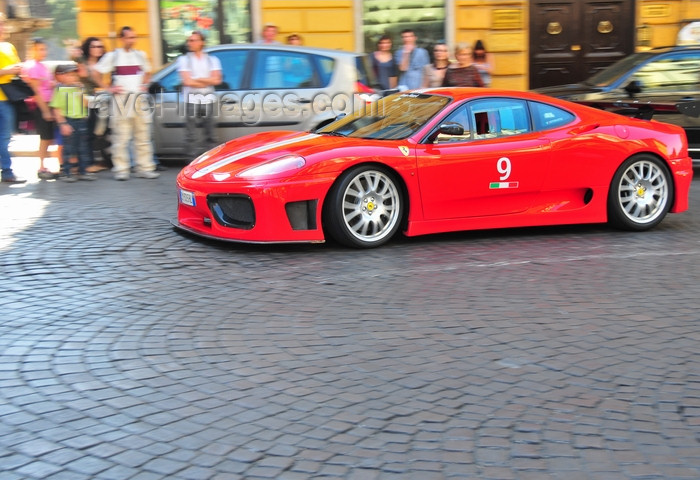 italy452: Rome, Italy: Ferrari 430 sports car on Via 4 Novembre - Ferrari - photo by M.Torres - (c) Travel-Images.com - Stock Photography agency - Image Bank
