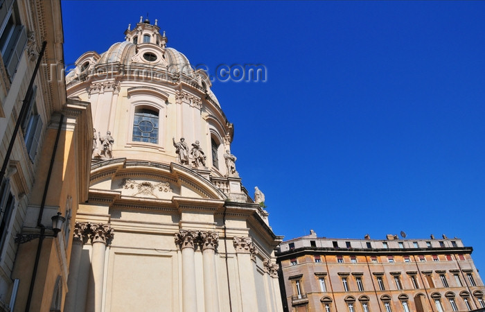 italy453: Rome, Italy: the baroque Chiesa del Santissimo Nome di Maria al Foro Traiano, architect Antoine Derizet - photo by M.Torres - (c) Travel-Images.com - Stock Photography agency - Image Bank