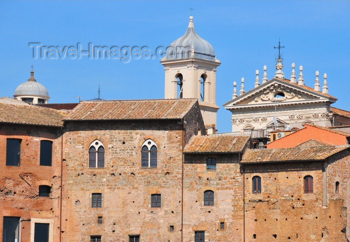 italy463: Rome, Italy: Via Biberatica - Markets of Trajan and church of Sts. Dominic and Sixtus  - photo by M.Torres - (c) Travel-Images.com - Stock Photography agency - Image Bank