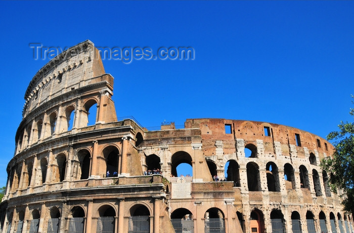 italy467: Rome, Italy: Colosseum - the Amphitheatrum Flavium - western side - photo by M.Torres - (c) Travel-Images.com - Stock Photography agency - Image Bank