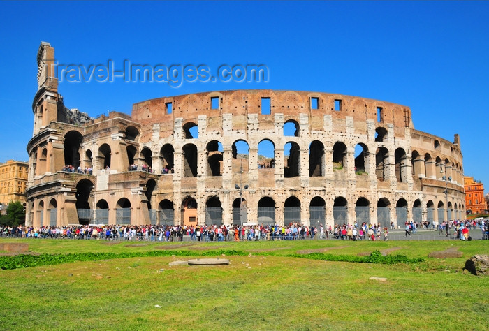 italy468: Rome, Italy: Colosseum - built under Vespasian and Titus - photo by M.Torres - (c) Travel-Images.com - Stock Photography agency - Image Bank
