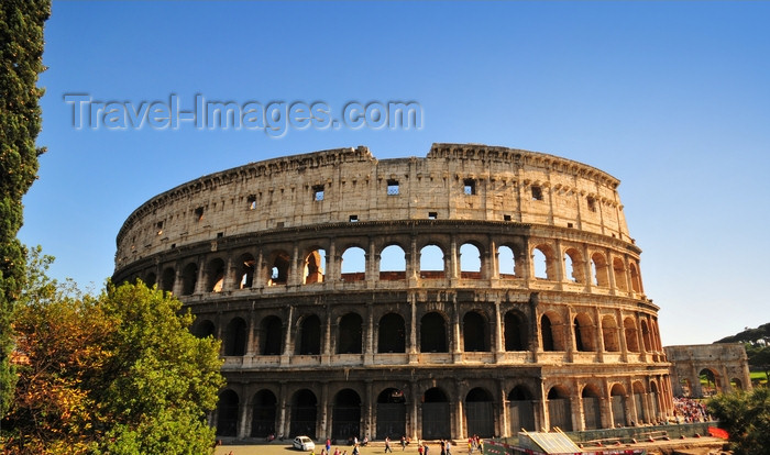 italy473: Rome, Italy:  Colosseum - the Flavian Amphitheater - marble façade - photo by M.Torres - (c) Travel-Images.com - Stock Photography agency - Image Bank
