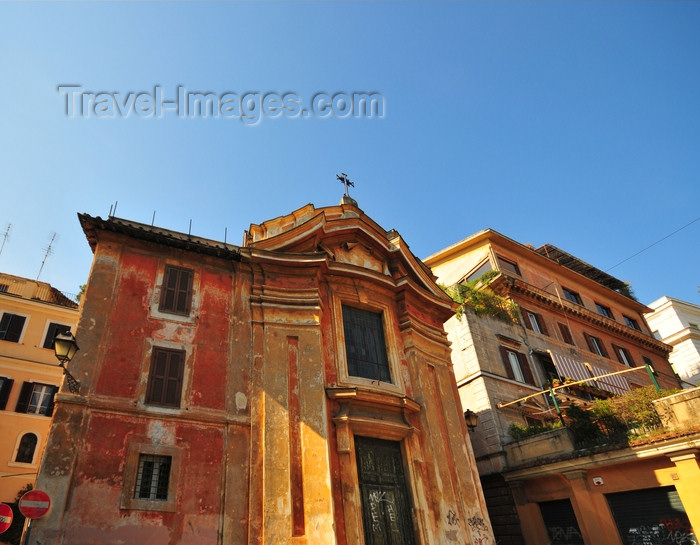 italy474: Rome, Italy: small church at the intersection of Via delle Carine and Via del Cardello - photo by M.Torres - (c) Travel-Images.com - Stock Photography agency - Image Bank