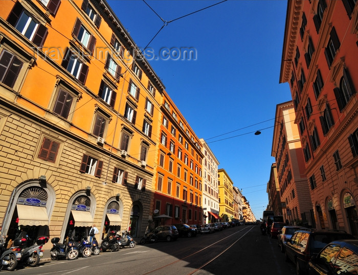 italy476: Rome, Italy: façades of Via Cavour - photo by M.Torres - (c) Travel-Images.com - Stock Photography agency - Image Bank