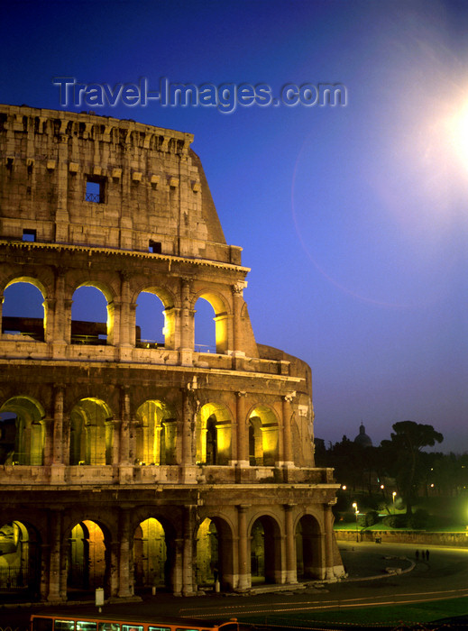 italy478: Rome, Italy: Colosseum - nocturnal view - built for 80,000 spectators - photo by J.Fekete - (c) Travel-Images.com - Stock Photography agency - Image Bank