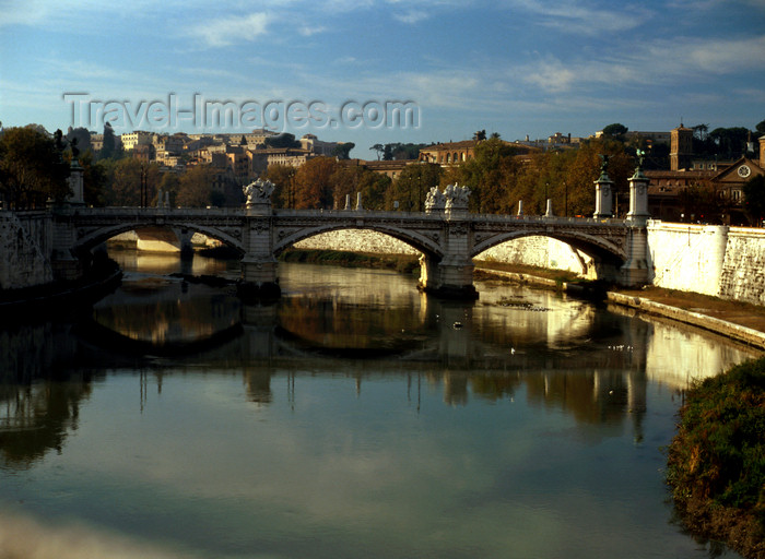 italy480: Rome, Italy: Ponte Vittorio Emanuele - bridge over the Tiber - photo by J.Fekete - (c) Travel-Images.com - Stock Photography agency - Image Bank
