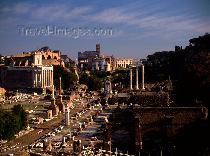 italy481: Rome, Italy: Forum Romanum - Temple of Antoninus and Faustina, Temple of Castor and Pollux .... - photo by J.Fekete - (c) Travel-Images.com - Stock Photography agency - Image Bank