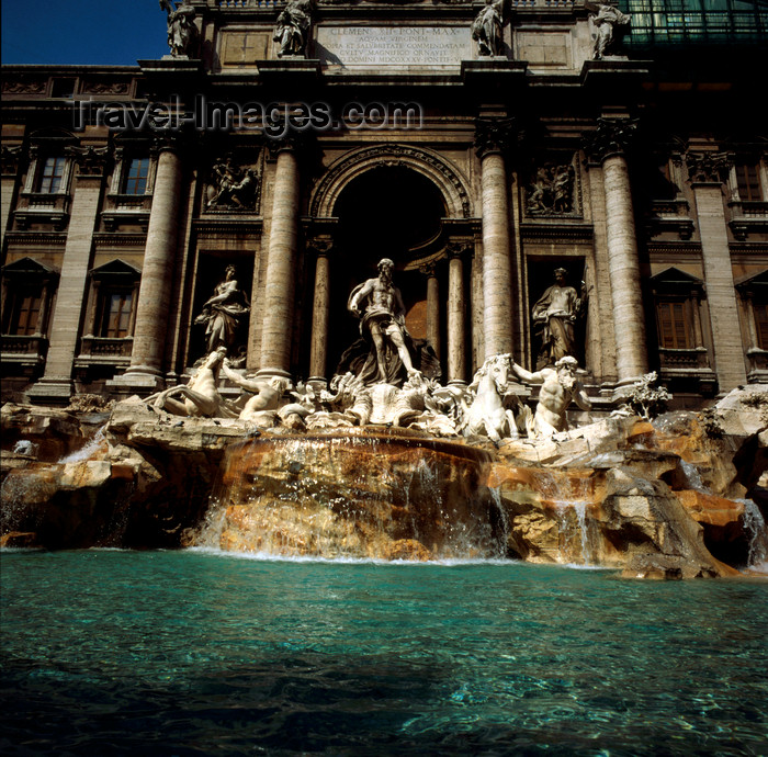 italy484: Rome, Italy: Trevi fountain - baroque work by Nicola Salvi - photo by J.Fekete - (c) Travel-Images.com - Stock Photography agency - Image Bank