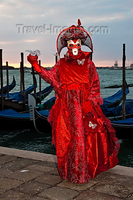 italy520: Carnival participant with Carnival costume at Dawn by Canale di San Marco, Venice - photo by A.Beaton - (c) Travel-Images.com - Stock Photography agency - Image Bank