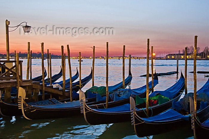italy529: Venice, Italy: Morning light at San Marco Gondola Basin - photo by A.Beaton - (c) Travel-Images.com - Stock Photography agency - Image Bank