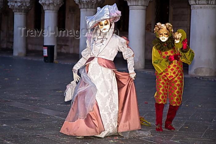 italy533: Carnival participants with Carnival costumes in Piazza San Marco, Venice - photo by A.Beaton - (c) Travel-Images.com - Stock Photography agency - Image Bank