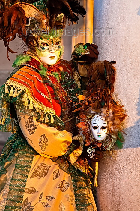 italy538: Carnival participant with Carnival costume in Piazza San Marco, Venice - photo by A.Beaton - (c) Travel-Images.com - Stock Photography agency - Image Bank