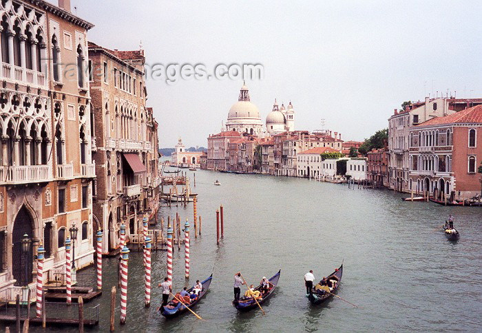 italy9: Italy - Venice / Venezia (Venetia / Veneto) / VCE : Grand Canal and Salute Church - dogana da mar (photo by Miguel Torres) - (c) Travel-Images.com - Stock Photography agency - Image Bank