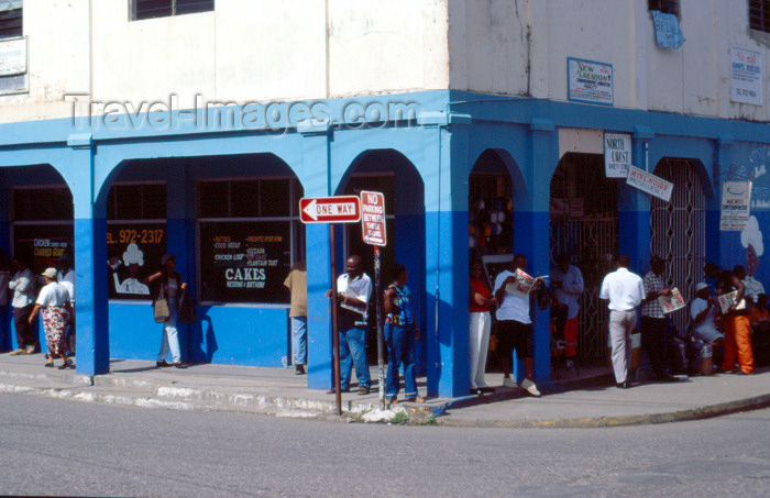 jamaica12: Jamaica - Santa Ana: street scene - corner shop - photo by F.Rigaud - (c) Travel-Images.com - Stock Photography agency - Image Bank