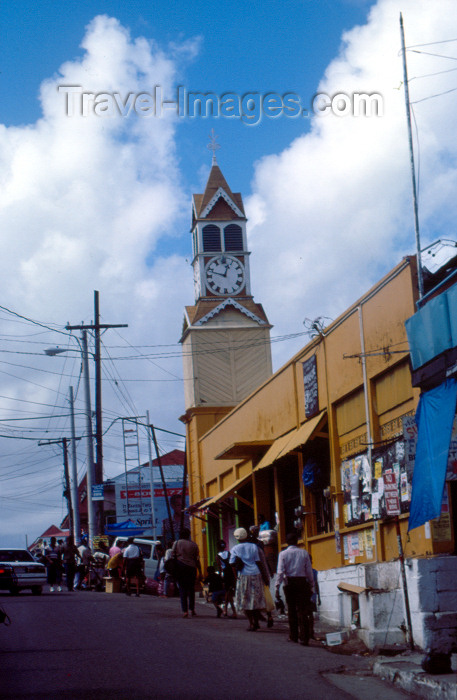 jamaica6: Jamaica - Santa Ana: street scene - Clock tower - photo by F.Rigaud - (c) Travel-Images.com - Stock Photography agency - Image Bank