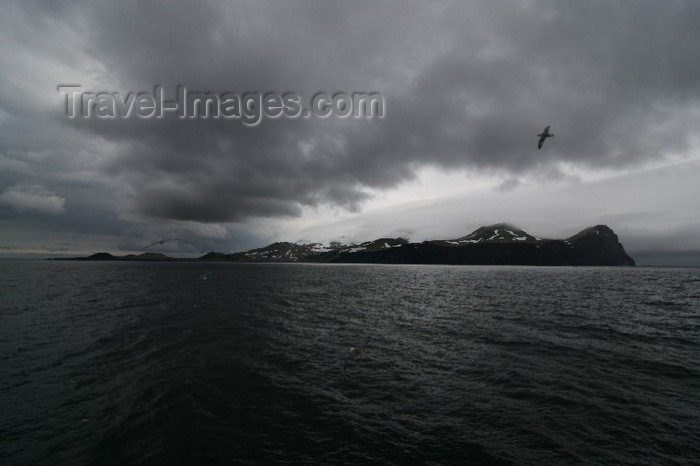 jan-mayen1: Jan Mayen island: view of South-Jan and the Rudolftoppen  - photo by R.Behlke - (c) Travel-Images.com - Stock Photography agency - Image Bank