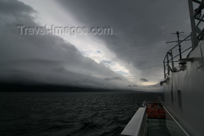 jan-mayen5: Jan Mayen island: coast seen from a ship - photo by R.Behlke - (c) Travel-Images.com - Stock Photography agency - Image Bank