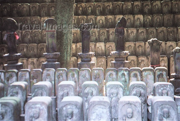 japan13: Japan - Tokyo: steles - bodhisattvas - being dedicated to attaining Nirvana - religion - Buddhism - photo by W.Schipper - (c) Travel-Images.com - Stock Photography agency - Image Bank