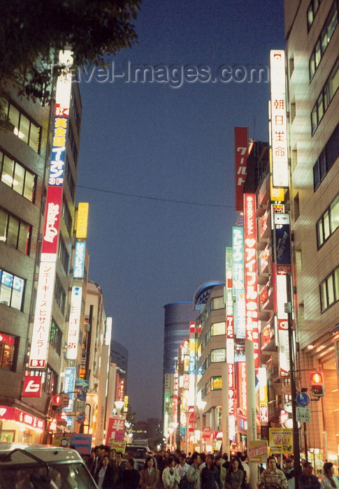 japan19: Japan - Tokyo: evening - neon lights - photo by M.Torres - (c) Travel-Images.com - Stock Photography agency - Image Bank