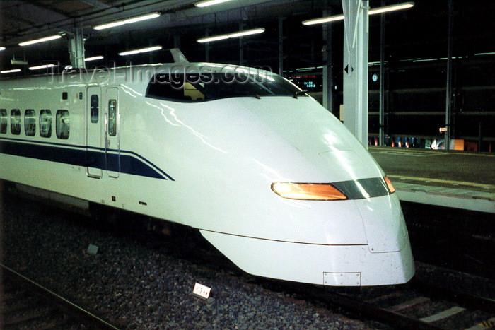 japan33: Japan - Kyoto - Honshu island: the Shinkansen Bullet train leaves for Tokyo - Shinkansen 300 - photo by M.Torres - (c) Travel-Images.com - Stock Photography agency - Image Bank