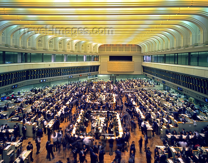 japan5: Tokyo, Japan: TSE - Tokyo Stock Exchange - interior - brokers at work - photo by A.Bartel - (c) Travel-Images.com - Stock Photography agency - Image Bank