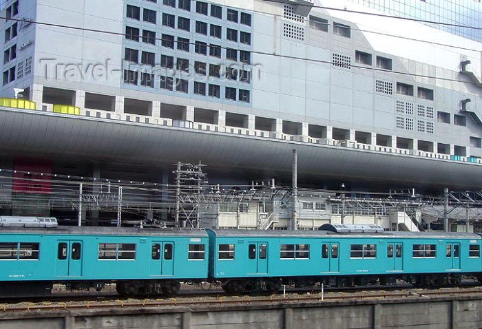japan56: Japan - Honshu island: Kyoto: train at the central station - photo by G.Frysinger - (c) Travel-Images.com - Stock Photography agency - Image Bank