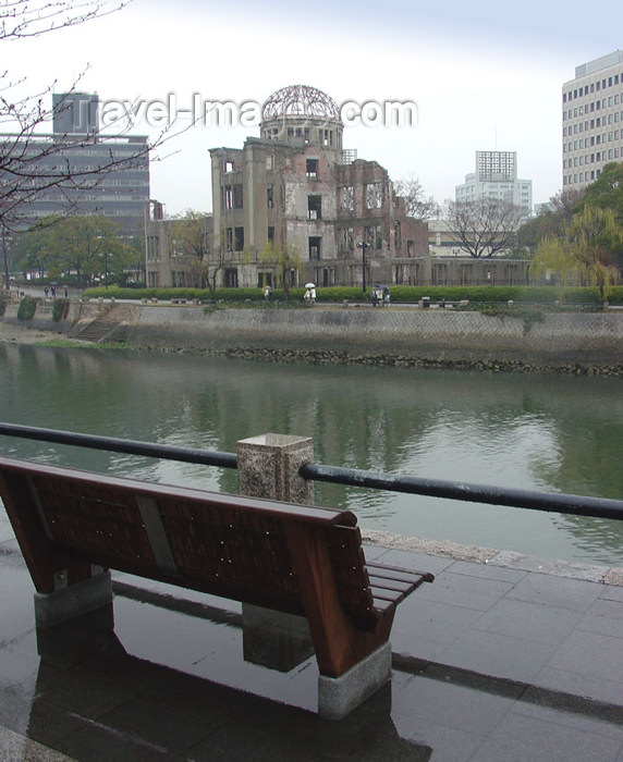 japan57: Japan (Honshu island) Hiroshima - Chugoku region: Hiroshima Peace Memorial Genbaku Dome - A-Bomb Dome and one of the channels of the Ota river - Unesco world heritage site - photo by G.Frysinger - (c) Travel-Images.com - Stock Photography agency - Image Bank
