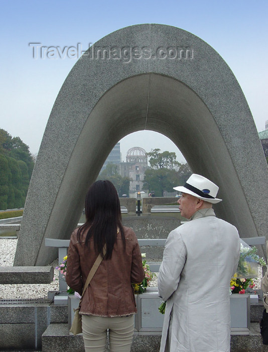 japan60: Japan (Honshu island) Hiroshima - Chugoku region: Memorial Cenotaph  / Hiroshima Peace City Memorial - Peace Garden - remembering the horrors of atomic warfare - photo by G.Frysinger - (c) Travel-Images.com - Stock Photography agency - Image Bank