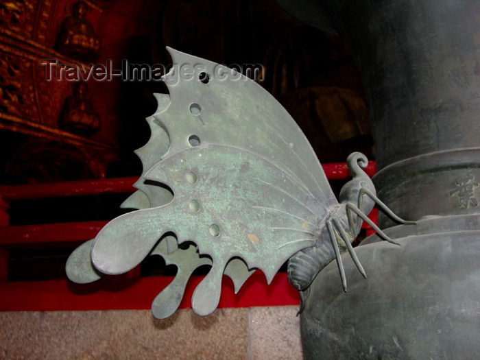 japan61: Japan (Honshu island) - Nara: butterfly by the the Great Buddha - Todai-ji Buddhist Temple - photo by G.Frysinger - (c) Travel-Images.com - Stock Photography agency - Image Bank