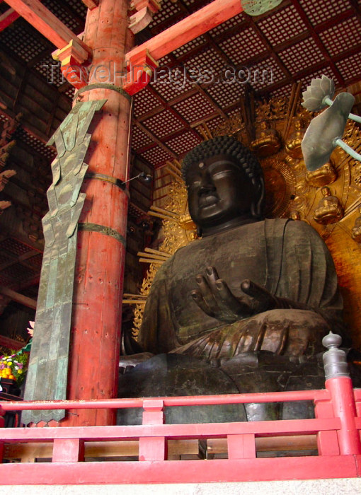 japan62: Japan (Honshu island) - Nara: the Great Buddha - 16 meter high, consists of 437 tons of bronze and 139 kg of gold - Todai-ji Temple - Unesco world heritage site - photo by G.Frysinger - (c) Travel-Images.com - Stock Photography agency - Image Bank