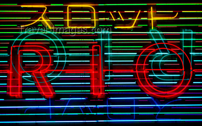 japan71: Neon advertising sign - Rio, Tokyo, Japan. photo by B.Henry - (c) Travel-Images.com - Stock Photography agency - Image Bank