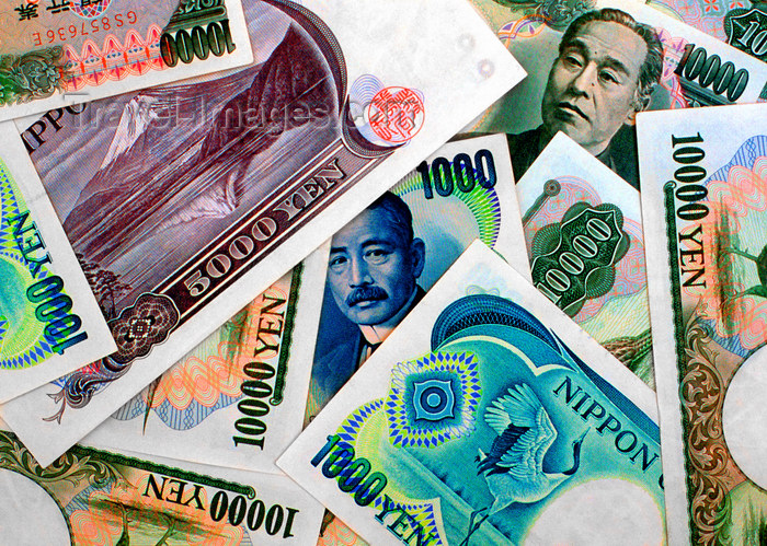 japan87: Japanese currency, Yen notes - JPY, Japan. photo by B.Henry - (c) Travel-Images.com - Stock Photography agency - Image Bank