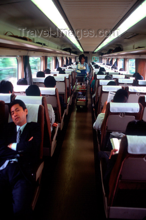 japan89: Interior of the high speed bullet train - Shinkansen - Japan Railways, Tokyo, Japan. photo by B.Henry - (c) Travel-Images.com - Stock Photography agency - Image Bank