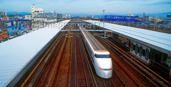 japan90: High speed bullet train - Shinkansen 300 - Japan Railways, Tokyo, Japan. photo by B.Henry - (c) Travel-Images.com - Stock Photography agency - Image Bank