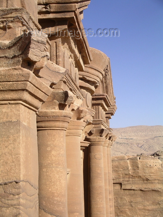 jordan1: Jordan - Petra / Sela (Maan / Ma'an province): monastery - up close - photo by R.Wallace - (c) Travel-Images.com - Stock Photography agency - Image Bank