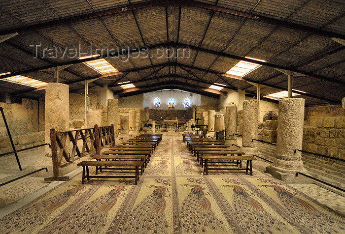 jordan120: Mount Nebo - Madaba governorate - Jordan: main aisle of the Basilica - ruins and metal roof - photo by M.Torres - (c) Travel-Images.com - Stock Photography agency - Image Bank