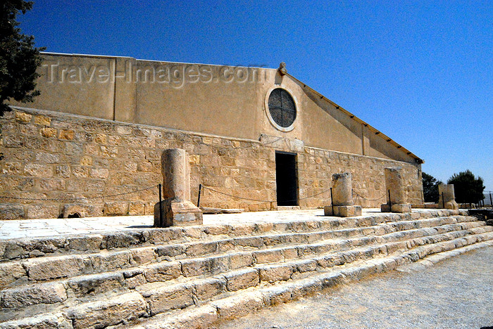 jordan121: Mount Nebo - Madaba governorate - Jordan: façade of the Basilica built by the Franciscans over the ruins - photo by M.Torres - (c) Travel-Images.com - Stock Photography agency - Image Bank