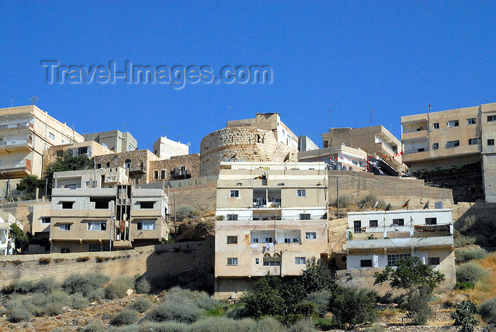 jordan126: Al Karak - Jordan: houses on the hilltop, built around a crusaders' tower - photo by M.Torres - (c) Travel-Images.com - Stock Photography agency - Image Bank