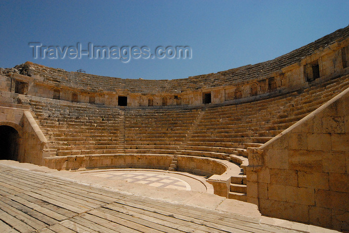 jordan179: Jerash - Jordan: North Theatre - view from the stage - seating for 2000 - Roman city of Gerasa - photo by M.Torres - (c) Travel-Images.com - Stock Photography agency - Image Bank