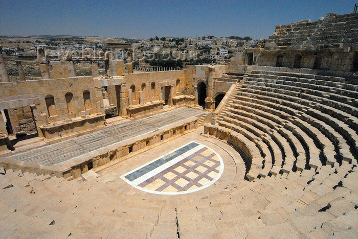 jordan180: Jerash - Jordan: North Theatre - built during the reign of Marcus Aurelius - Roman city of Gerasa - photo by M.Torres - (c) Travel-Images.com - Stock Photography agency - Image Bank