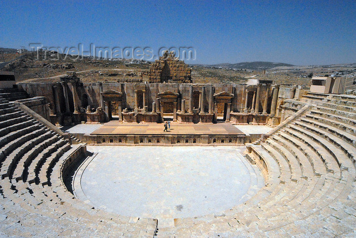 jordan190: Jerash - Jordan: South theatre - view from the last row  - Roman city of Gerasa - photo by M.Torres - (c) Travel-Images.com - Stock Photography agency - Image Bank