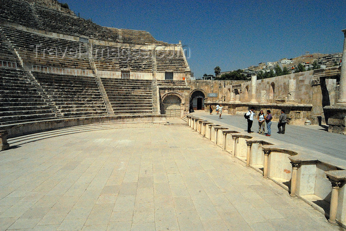 jordan197: Amman - Jordan: - Roman Theatre - view from the orchestra - photo by M.Torres - (c) Travel-Images.com - Stock Photography agency - Image Bank