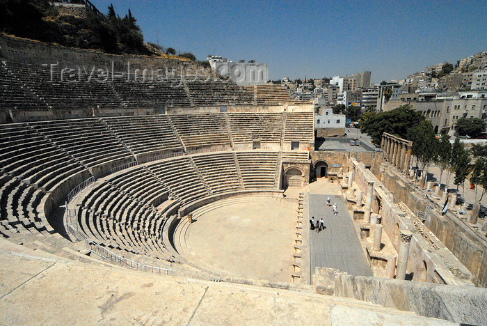 jordan198: Amman - Jordan: Roman Theatre - view from the top of the cavea - photo by M.Torres - (c) Travel-Images.com - Stock Photography agency - Image Bank