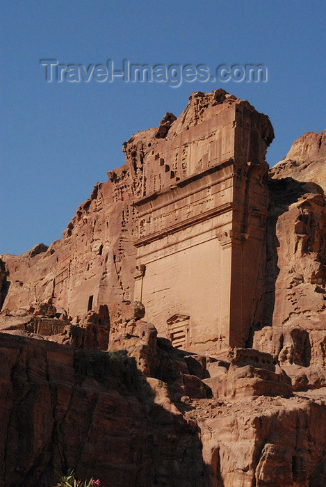 jordan2: Jordan - Petra: Nabataean tomb - Tomb of Unaishu - east bank of the Outer Siq, across from the Street of Facades and halfway between the Khazneh and the Theatre - photo by M.Torres                - (c) Travel-Images.com - Stock Photography agency - Image Bank