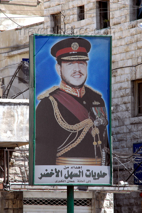 jordan215: Amman - Jordan: posters of king Abdullah II are all over - photo by M.Torres - (c) Travel-Images.com - Stock Photography agency - Image Bank